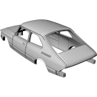 Saab 900 3-door Coupe - custom resin kit
