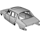 Saab 900 4-door Sedan - custom resin kit