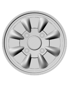 Set of 4 wheels 15 inch - Silver Spoke