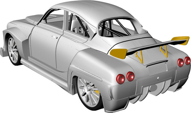 Griffin Models Saab 96ss assembly - rear spoiler