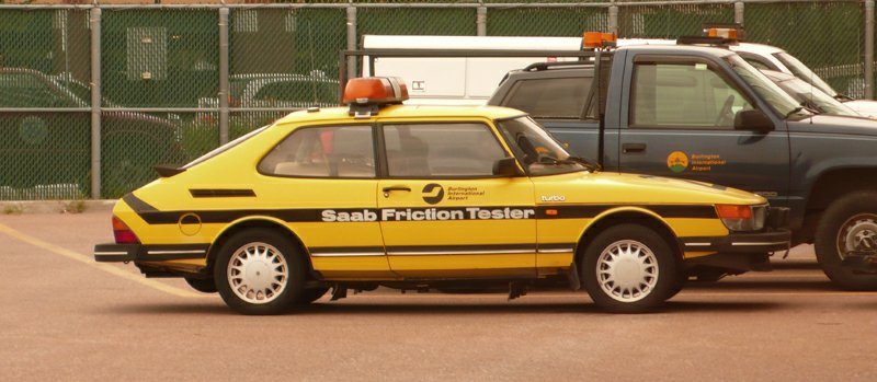 1986 Saab 900 Friction tester - Burlington Airport