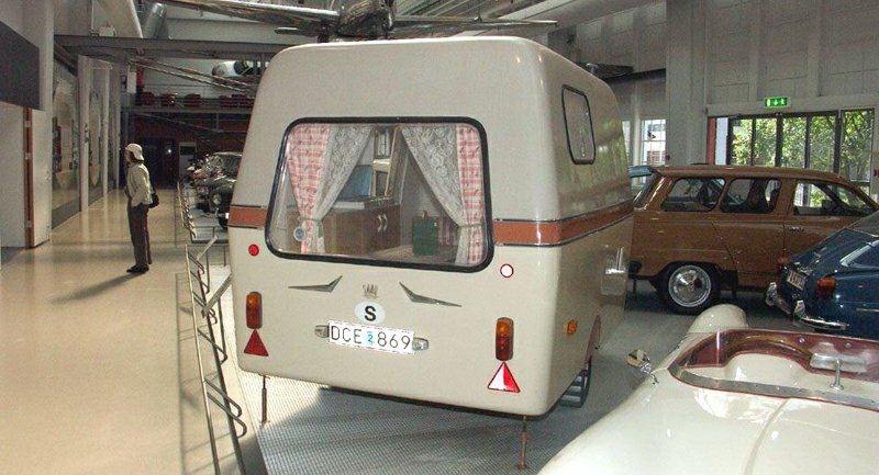 Saabo caravan in the Saab Museum